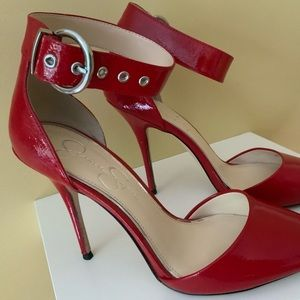 Jessica Simpson Shoes - Jessica Simpson Red Lacquered Pumps.